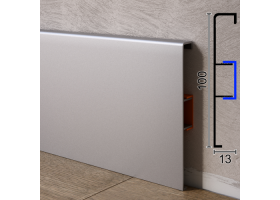 Алюмінієвий плінтус для підлоги ARFEN Р-310, 100х13х3000мм. Анодований