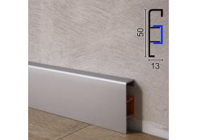 Алюмінієвий плінтус для підлоги ARFEN Р-350, 50х13х3000мм., Анодований