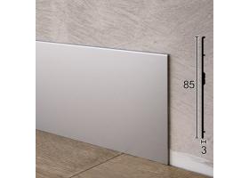 Плоский алюмінієвий плінтус для підлоги ARFEN Р-385, 85х3х3000мм., Анодований
