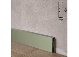 Дизайнерський алюмінієвий плінтус для підлоги Profilpas Metal Line 89/4EI, 40х10х2000мм. Титан