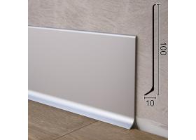Високий алюмінієвий плінтус для підлоги Sintezal P-100, 100х10х2500 мм. Анодований