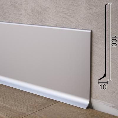 Универсальный алюминиевый плинтус для пола Sintezal P-100, H=100mm. Анодированный