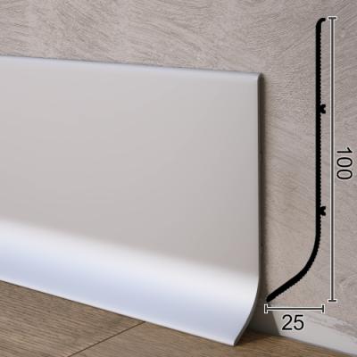 Промышленный алюминиевый плинтус для пола Sintezal P-101, H=100мм. Анодированный