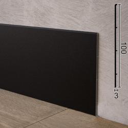 Высокий алюминиевый плинтус для пола Sintezal P-102B, 100x3x2500mm. Чёрный