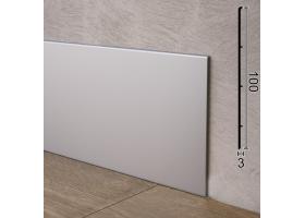 Плоский алюмінієвий плінтус для підлоги Sintezal P-102, 100х3х2500мм.