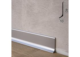Плоский алюмінієвий плінтус для підлоги Sintezal P-40, 40х10х2700мм. Анодований