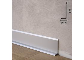 Ультраплоский алюмінієвий плінтус для підлоги Sintezal P-41, 40х15,5х2500мм. Анодований