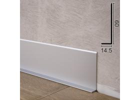 Плоский алюмінієвий плінтус для підлоги Sintezal P-65, 60х14,5х2500мм.