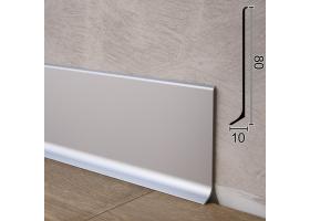 Універсальний алюмінієвий плінтус для підлоги Sintezal P-80, 80х10х2500мм. Анодований