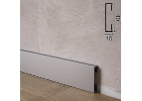 Прямокутний алюмінієвий плінтус для підлоги Sintezal P-84, 40х10х2500мм.