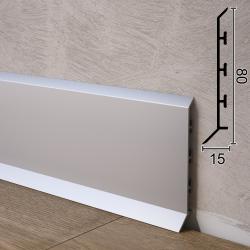 Дизайнерский алюминиевый плинтус для пола Sintezal P-85, 80х15х2500мм.