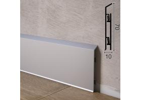 Накладний алюмінієвий плінтус для підлоги Sintezal P-95, 70х10х2500мм.