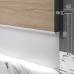 Встроенный алюминиевый плинтус скрытого монтажа Sintezal P-108 с LED-подсветкой, H=70mm.
