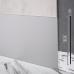 Встроенный алюминиевый плинтус под штукатурку Sintezal Р-112, H=100mm.