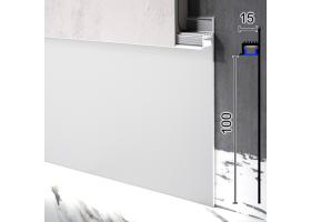 Скрытый плинтус алюминиевый с LED-подсветкой под гипсокартон Sintezal Р-114, 100х15х2500мм.