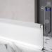 Скрытый плинтус алюминиевый с LED-подсветкой Sintezal Р-116W, H=60mm. Белый