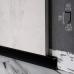 Скрытый плинтус алюминиевый для теневого шва пола Sintezal Р-117B, H=20mm. Чёрны