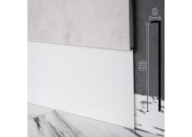 Алюмінієвий плінтус прихованого монтажу Sintezal Р-105W, 80х8х2500мм. Білий