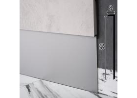 Прихований алюмінієвий плінтус під декоративну МДФ-вставку Sintezal P-118, 80х8х2500мм.