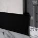 Закладной алюминиевый плинтус под гипсокартон Sintezal Р-125B, H=80mm. Чёрный