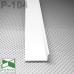 Белый алюминиевый плинтус скрытого монтажа P-104W, 40х15х2500мм.