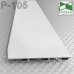 Белый алюминиевый плинтус скрытого монтажа P-105W, 60х15х2500мм.