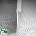 Белый алюминиевый плинтус скрытого монтажа P-107W, 70х15х2500мм.