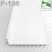 Белый алюминиевый плинтус с LED-подсветкой Р-108W, 70х15х3000мм.