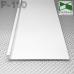 Белый алюминиевый плинтус скрытого монтажа Р-110W, приямок 100х10мм.
