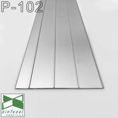 Ультраплоский алюминиевый плинтус для пола Sintezal P-102B, H=100mm. Чёрный