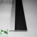 Черный алюминиевый плинтус скрытого монтажа P-106B, приямок 53х11х3000мм.