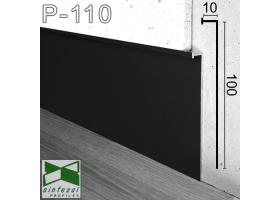 P-110B. Черный алюминиевый плинтус скрытого монтажа Sintezal, 100х10х3000мм.