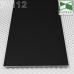 Черный алюминиевый плинтус скрытого монтажа Р-112B, 100х2х2500мм.