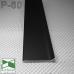 Черный алюминиевый плинтус SINTEZAL® P-60B, 60х10х2500 мм.