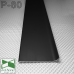 Накладной алюминиевый плинтус для пола P-80, высота 8 см.