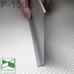 Широкий алюминиевый плинтус для пола P-100, высота 10 см.