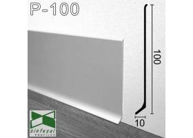 P-100. Широкий алюминиевый плинтус для пола Sintezal, 100х10х2500 мм. Анодированный
