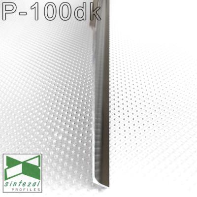 Сатинированный алюминиевый плинтус P-100DK, высота 100 мм.