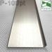 Алюминиевый сатинированный плинтус P-100PT, 100х10х2500мм.