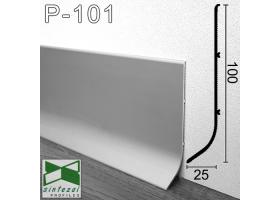P-101. Высокий алюминиевый плинтус для пола Sintezal, 100х25х3000мм. Анодированный