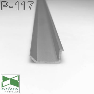 Скрытый алюминиевый плинтус теневого шва, 20х10х2500мм. Плинтус встроенный низкий.