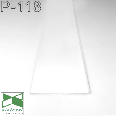 Скрытый плинтус алюминиевый Г-образный Sintezal P-118W, H=80mm.