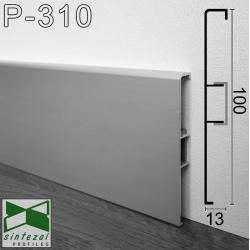 Р-310. Алюминиевый плинтус для пола ARFEN 100х13х3000мм. Анодированный