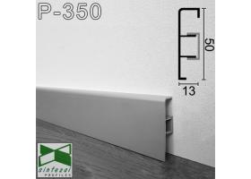 Р-350. Алюминиевый плинтус для пола ARFEN, 50х13х3000мм., Анодированный