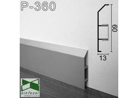 Р-360. Алюминиевый плинтус для пола ARFEN, 60х13х3000мм., Анодированный