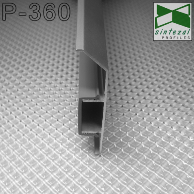 Плинтус алюминиевый на монтажной планке ARFEN Р-360, H=60mm. Турция