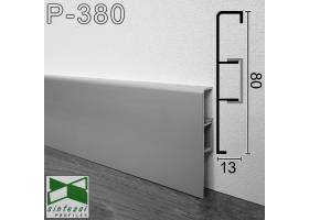 Р-380. Алюминиевый плинтус для пола ARFEN 80х13х3000мм., Анодированный