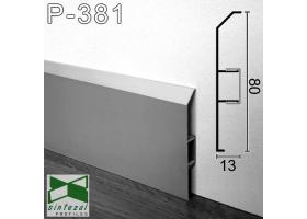 Р-381. Алюминиевый плинтус для пола ARFEN, 80х13х3000мм. Анодированный