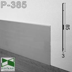 Р-385. Плоский алюмінієвий плінтус для підлоги ARFEN, 85х3х3000мм., Анодований