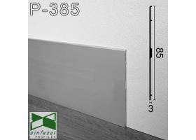 Р-385. Плоский алюминиевый плинтус для пола ARFEN, 85х3х3000мм., Анодированный